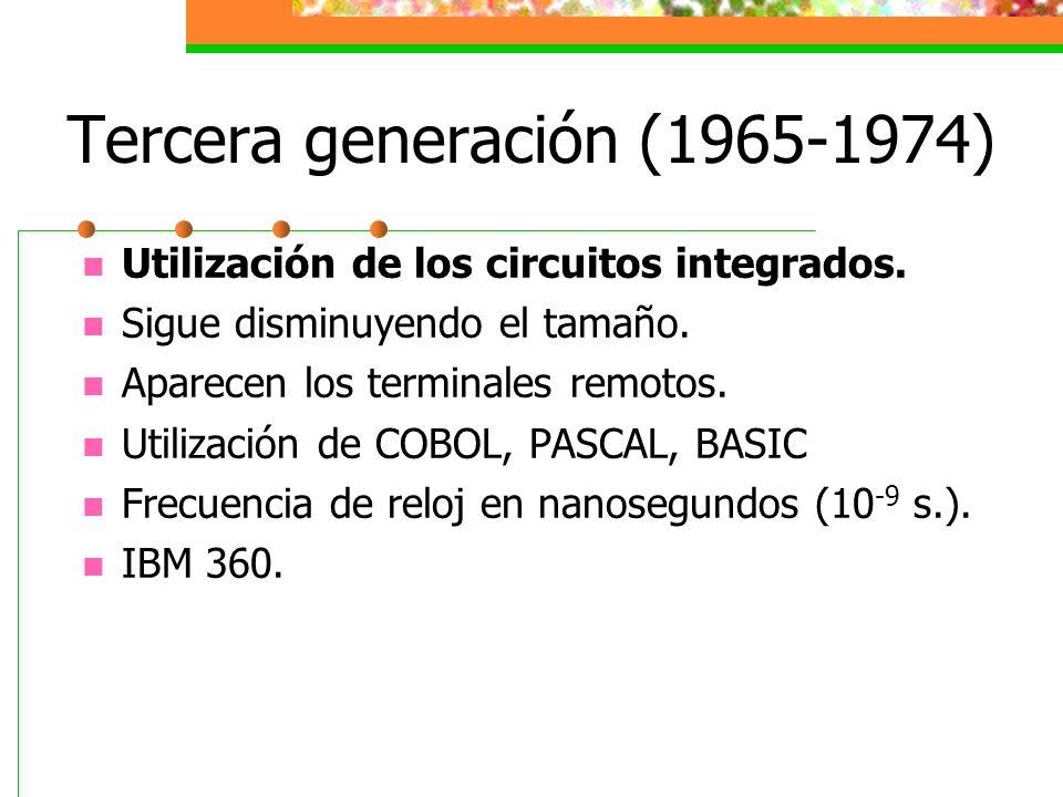 Tercera generación (1965-1974)