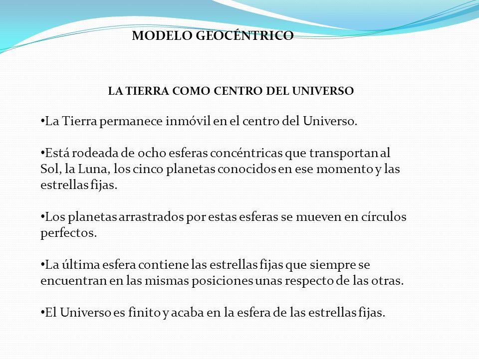 LA TIERRA COMO CENTRO DEL UNIVERSO
