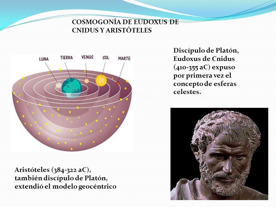 COSMOGONÍA DE EUDOXUS DE CNIDUS Y ARISTÓTELES