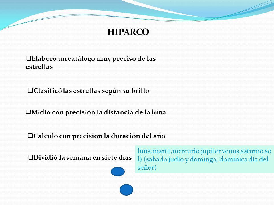 HIPARCO Elaboró un catálogo muy preciso de las estrellas