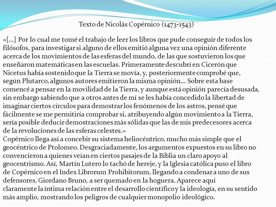 Texto de Nicolás Copérnico (1473-1543)