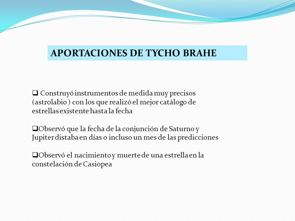 APORTACIONES DE TYCHO BRAHE