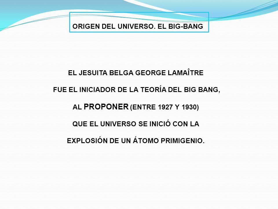 ORIGEN DEL UNIVERSO. EL BIG-BANG