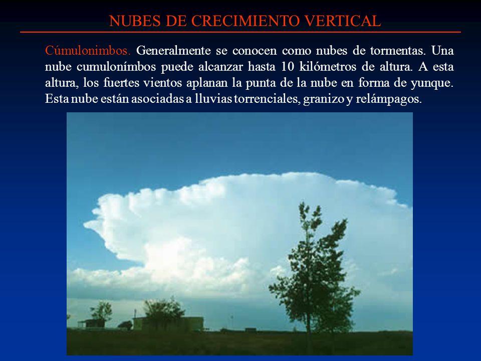 NUBES DE CRECIMIENTO VERTICAL