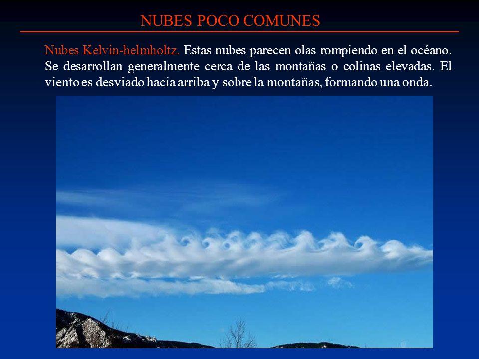 NUBES POCO COMUNES
