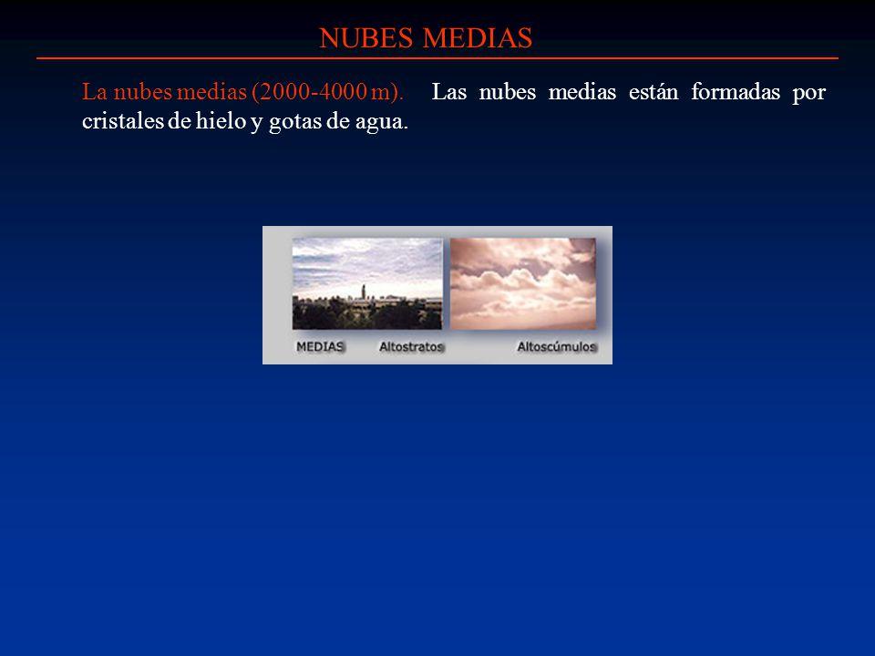 NUBES MEDIAS La nubes medias (2000-4000 m).