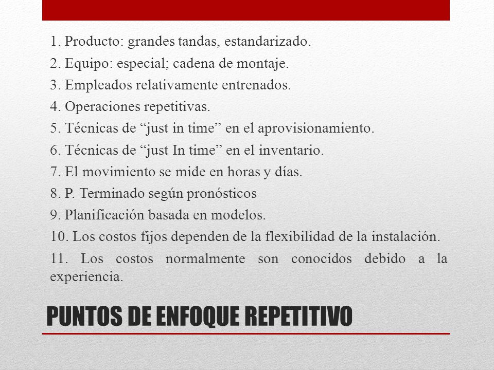 PUNTOS DE ENFOQUE REPETITIVO
