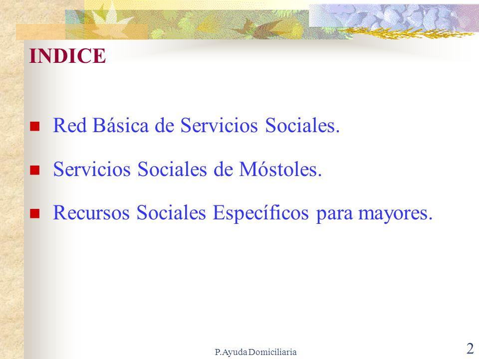 Red Básica de Servicios Sociales. Servicios Sociales de Móstoles.