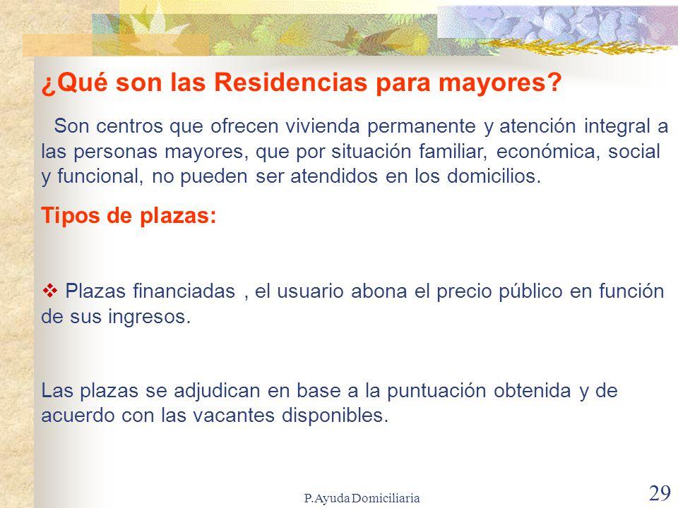 ¿Qué son las Residencias para mayores