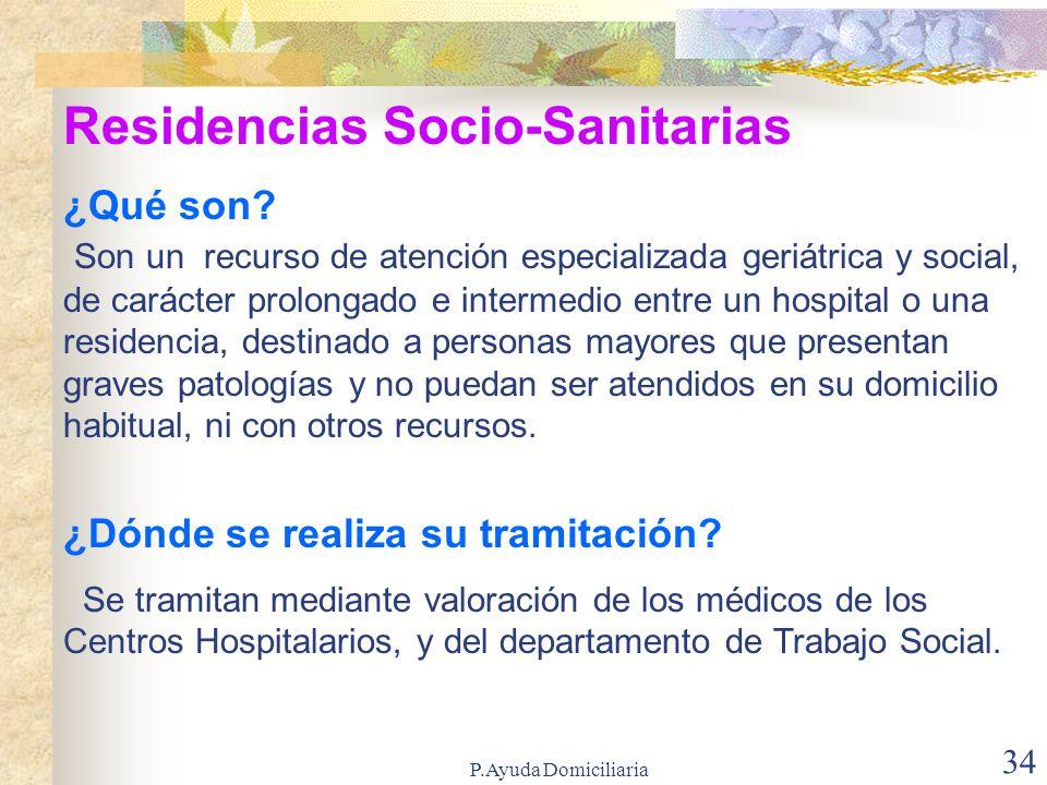 Residencias Socio-Sanitarias