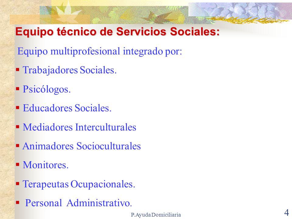Equipo técnico de Servicios Sociales: