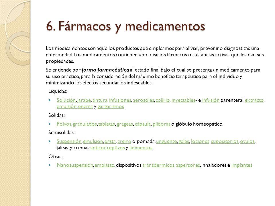 6. Fármacos y medicamentos