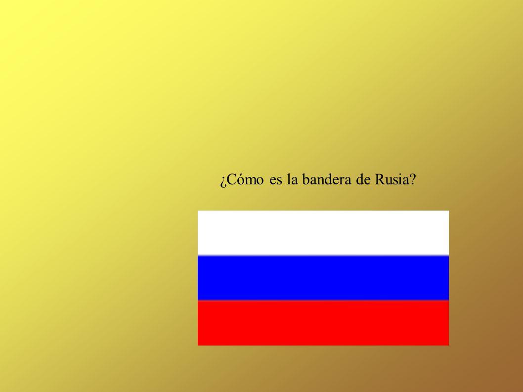 ¿Cómo es la bandera de Rusia