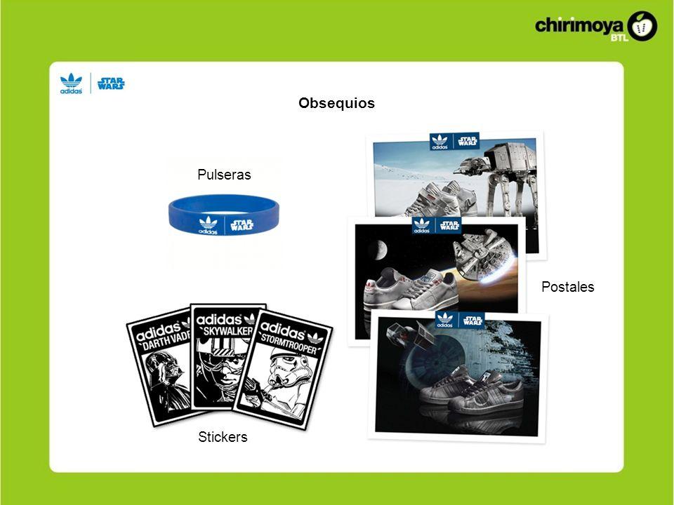 Obsequios Pulseras Postales Stickers