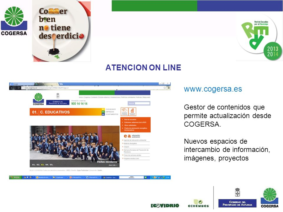 ATENCION ON LINE www.cogersa.es