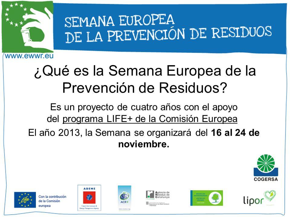 ¿Qué es la Semana Europea de la Prevención de Residuos