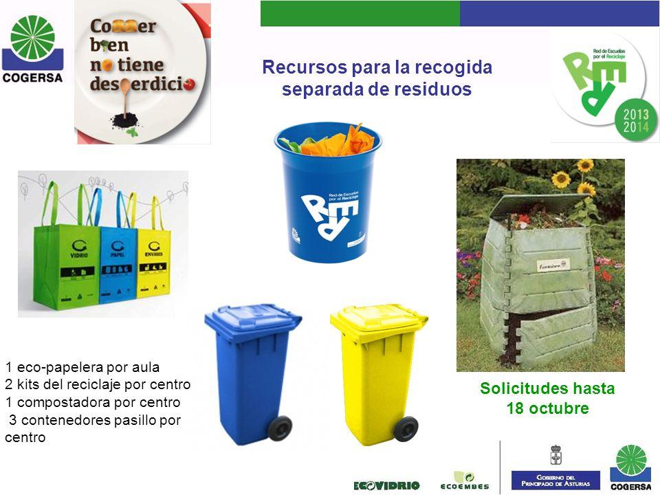 Recursos para la recogida separada de residuos