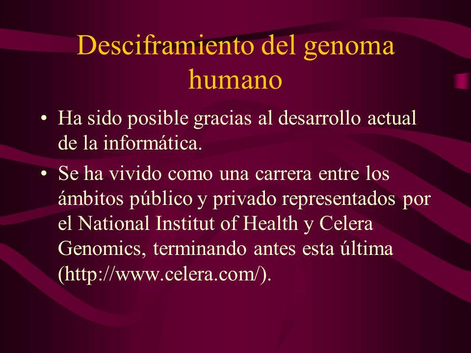 Desciframiento del genoma humano