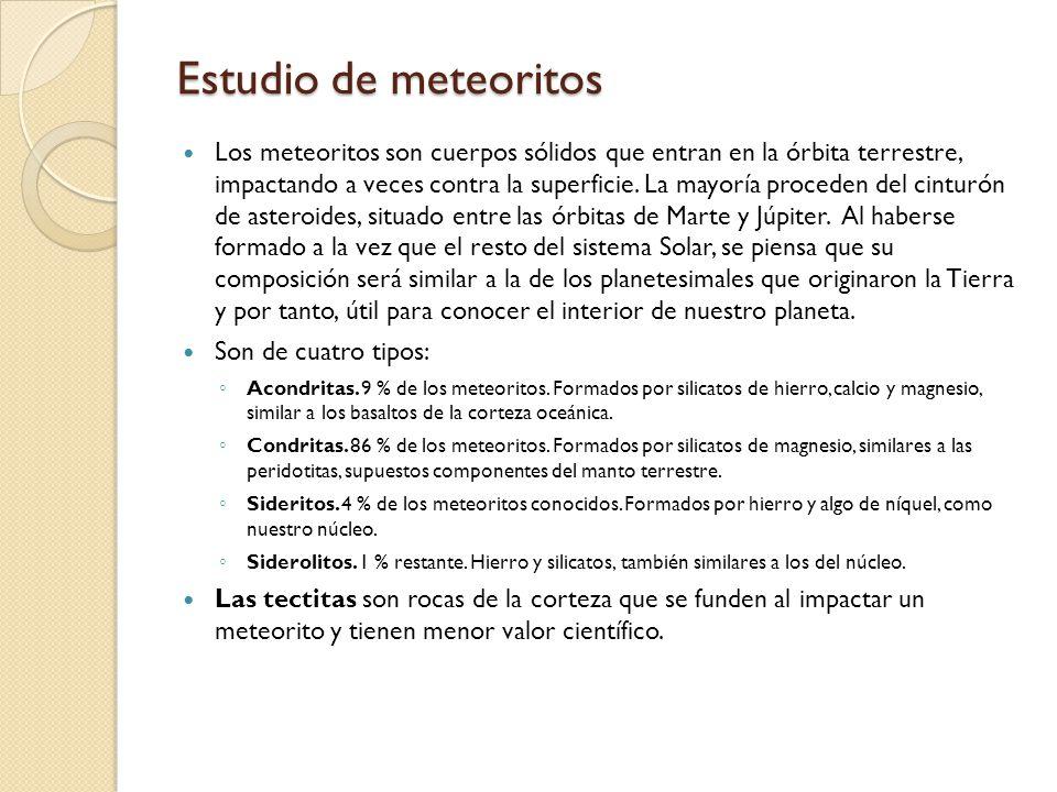 Estudio de meteoritos