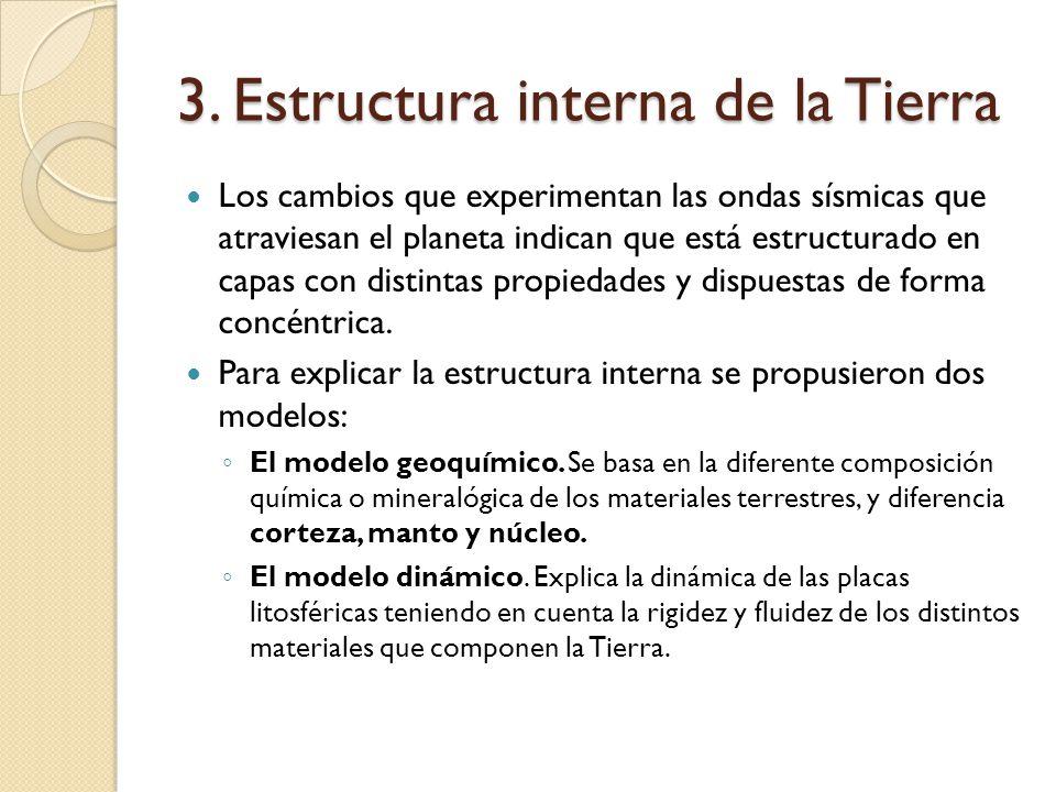 3. Estructura interna de la Tierra