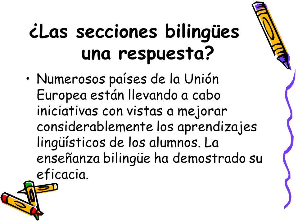 ¿Las secciones bilingües una respuesta