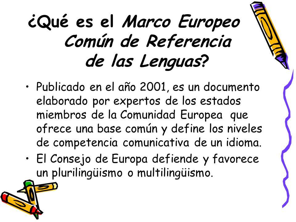 ¿Qué es el Marco Europeo Común de Referencia de las Lenguas