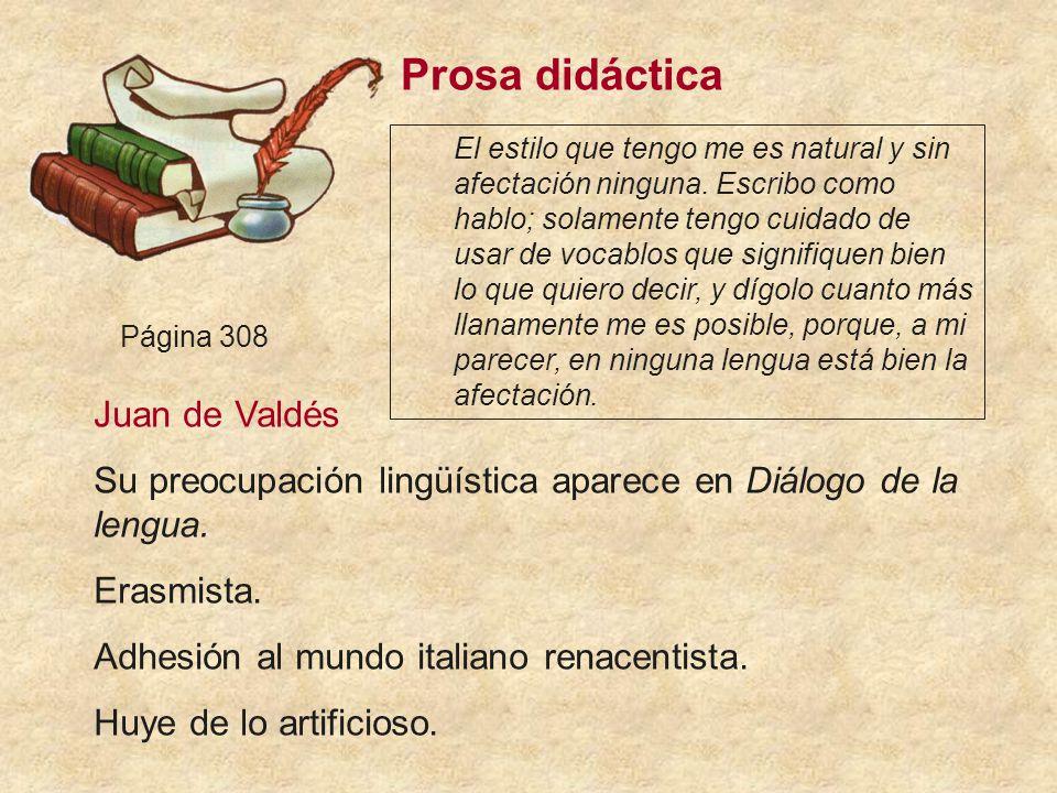 Prosa didáctica Juan de Valdés