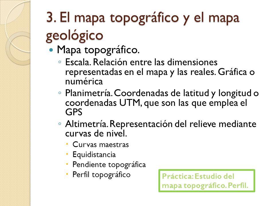 3. El mapa topográfico y el mapa geológico