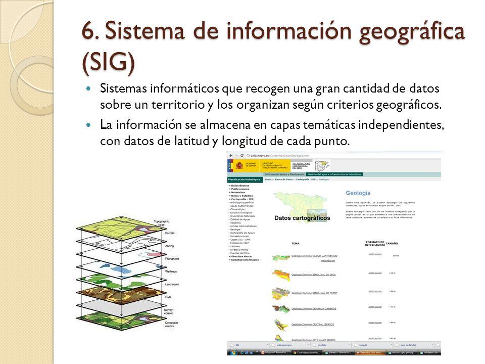 6. Sistema de información geográfica (SIG)