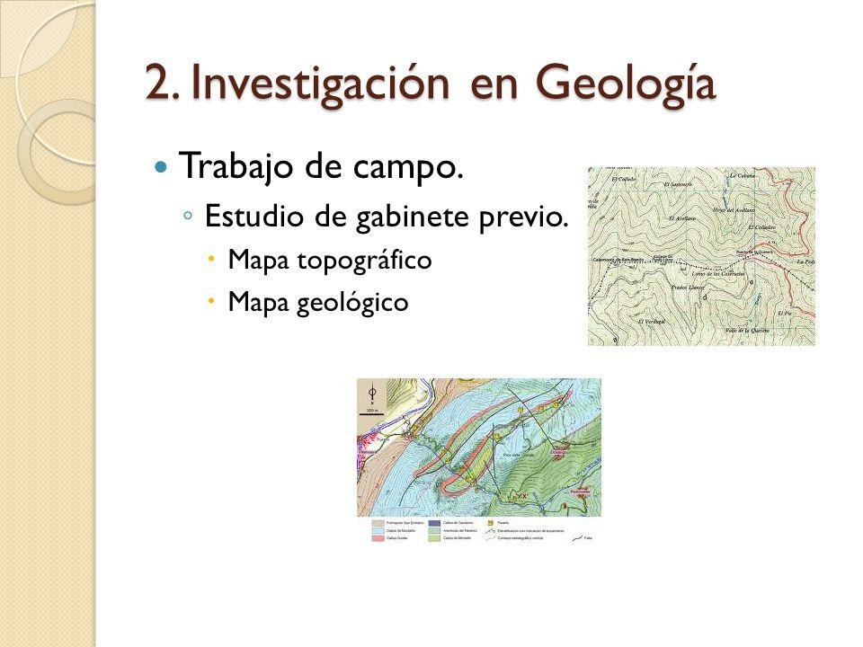 2. Investigación en Geología