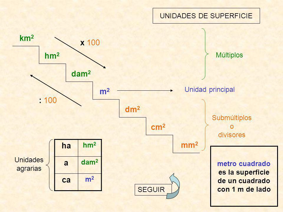 UNIDADES DE SUPERFICIE