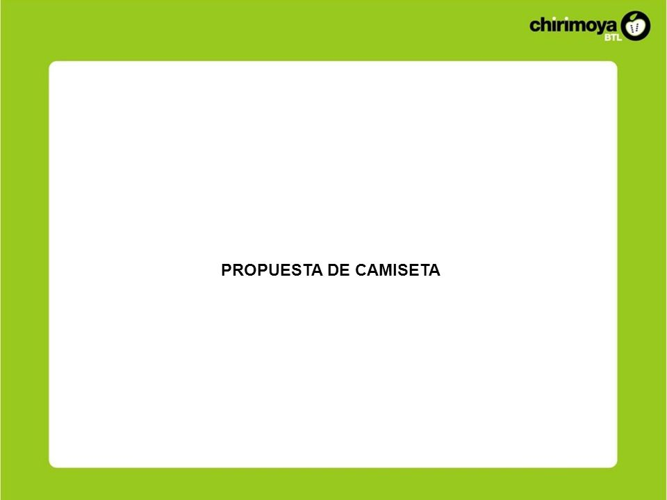PROPUESTA DE CAMISETA