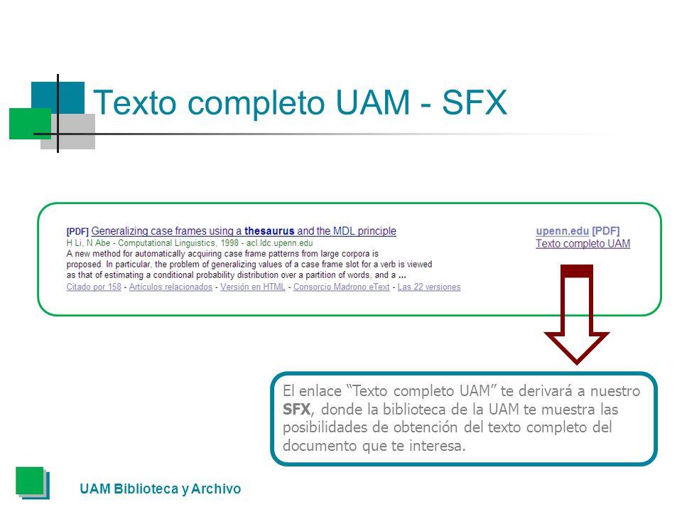 Texto completo UAM - SFX