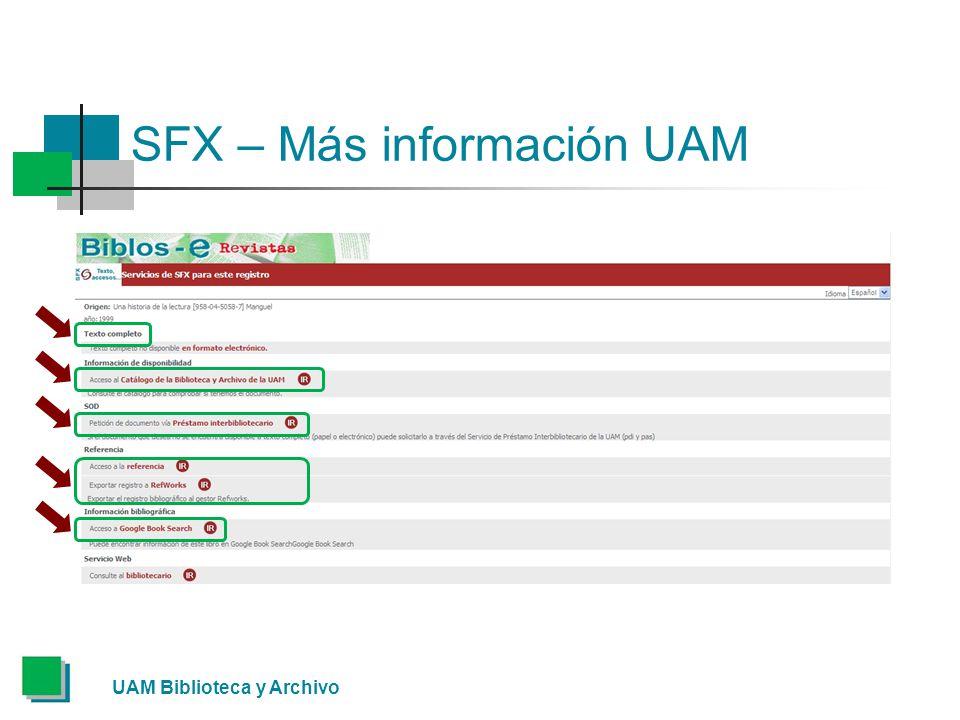 SFX – Más información UAM