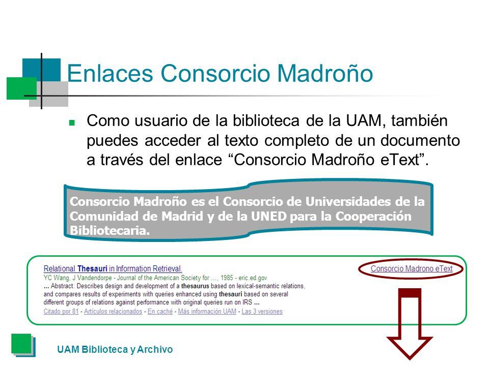 Enlaces Consorcio Madroño