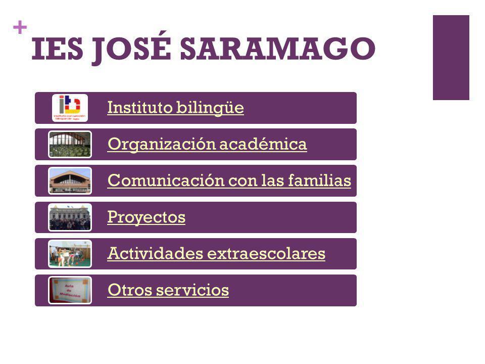 IES JOSÉ SARAMAGO Instituto bilingüe Organización académica