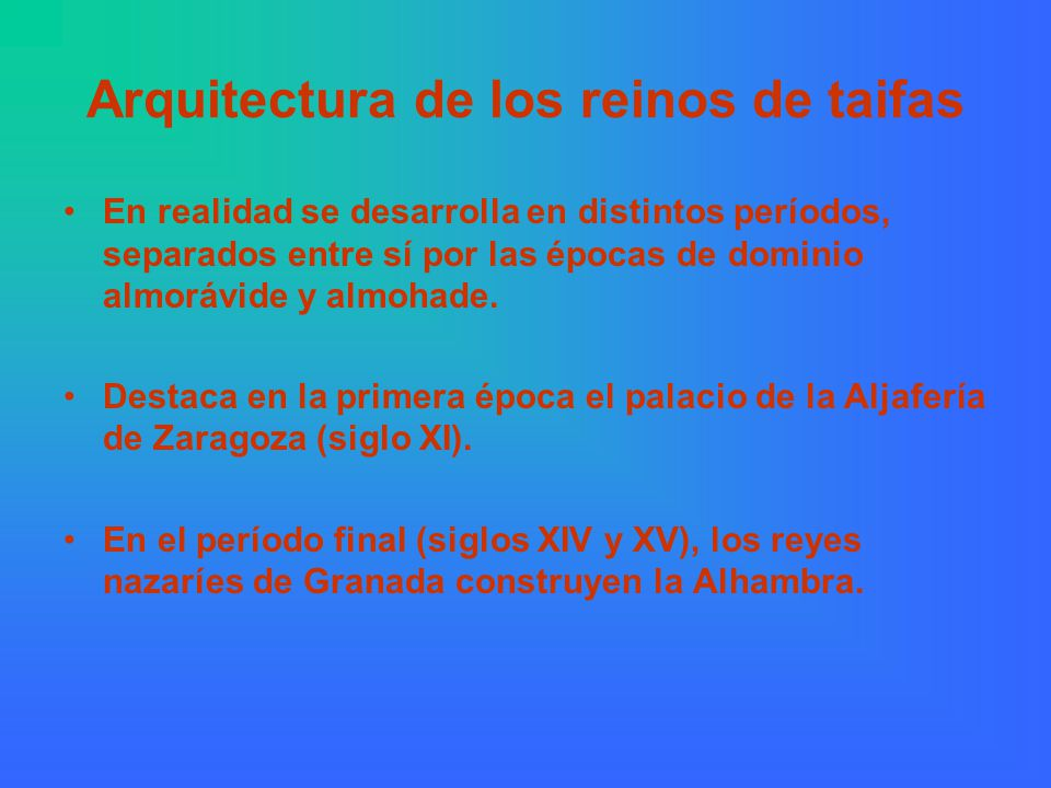Arquitectura de los reinos de taifas
