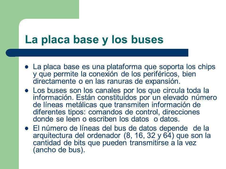 La placa base y los buses