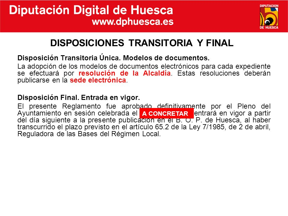 DISPOSICIONES TRANSITORIA Y FINAL