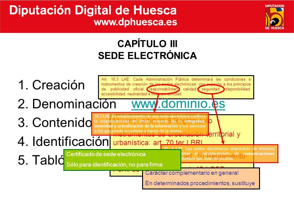 CAPÍTULO III SEDE ELECTRÓNICA