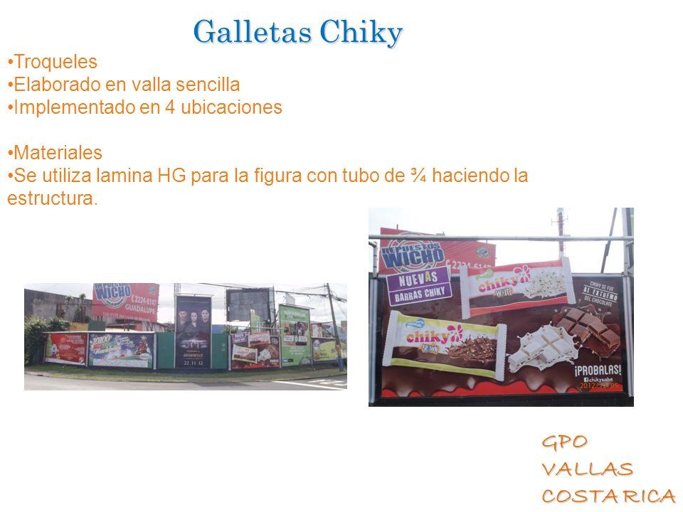 Galletas Chiky Troqueles Elaborado en valla sencilla