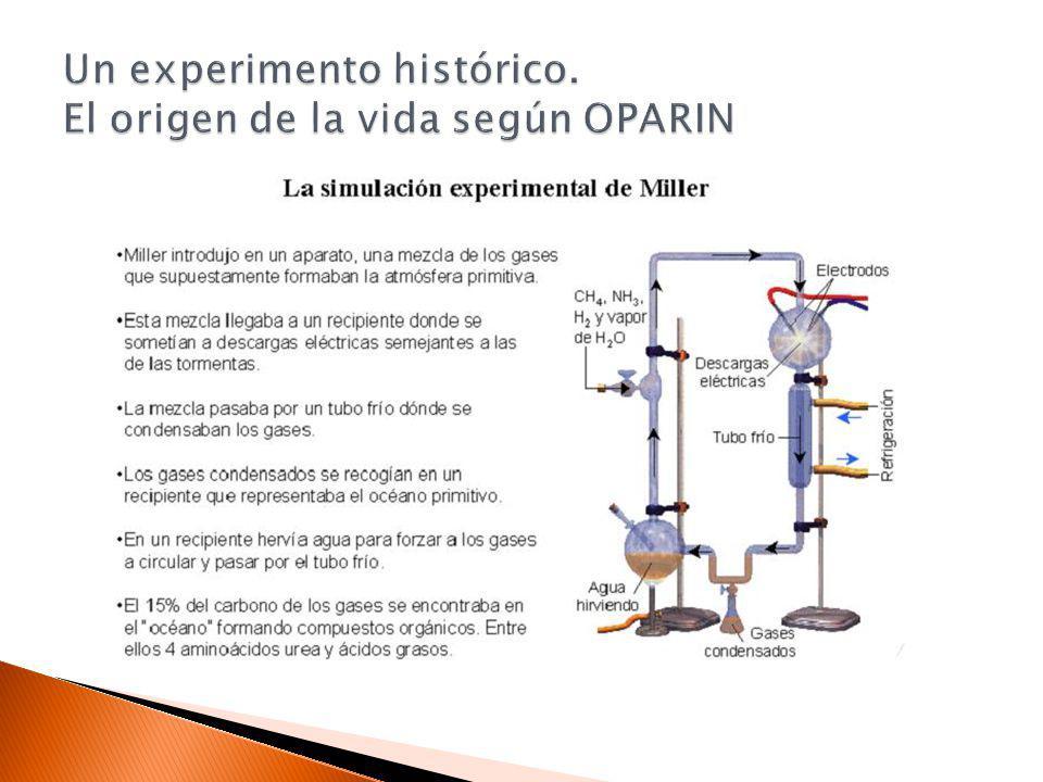Un experimento histórico. El origen de la vida según OPARIN