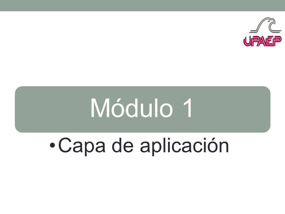 Módulo 1 Capa de aplicación