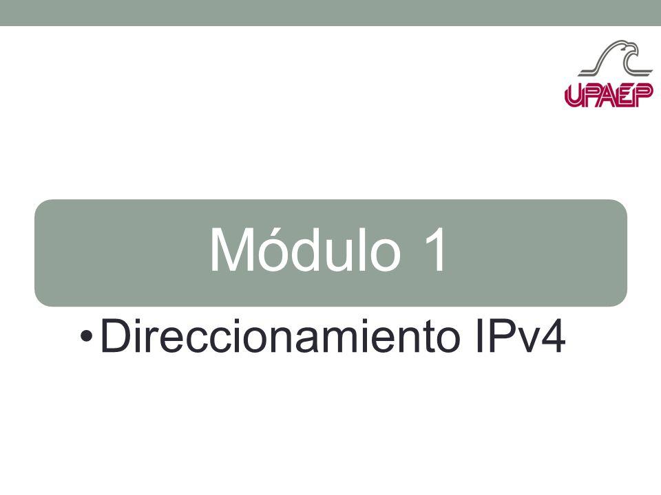 Módulo 1 Direccionamiento IPv4