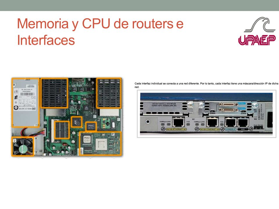 Memoria y CPU de routers e Interfaces