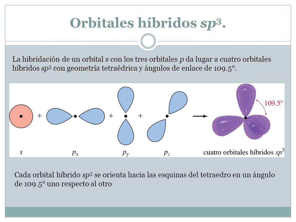 Orbitales híbridos sp3.