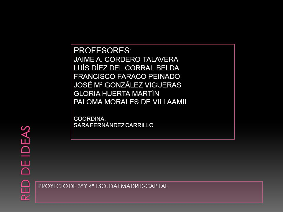 RED DE IDEAS PROFESORES: JAIME A. CORDERO TALAVERA