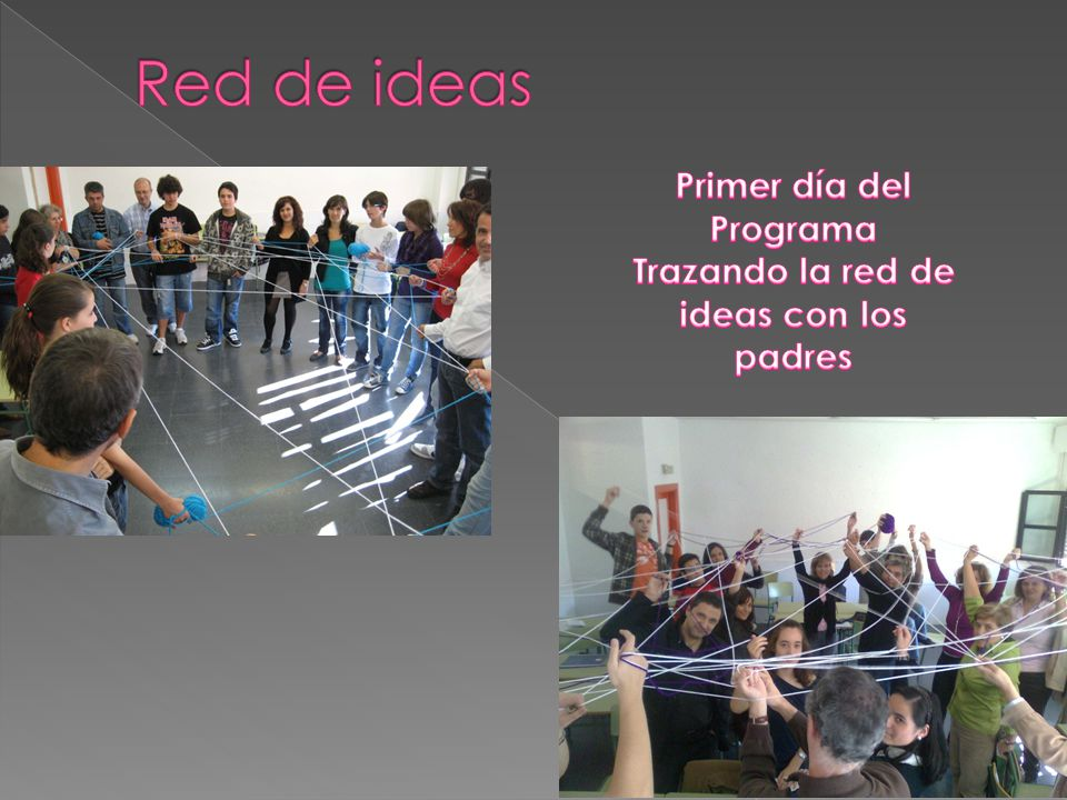 Primer día del Programa Trazando la red de ideas con los padres