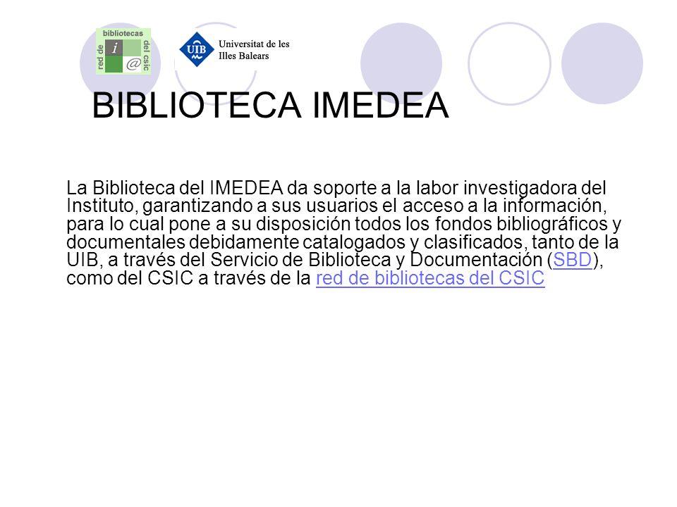 BIBLIOTECA IMEDEA