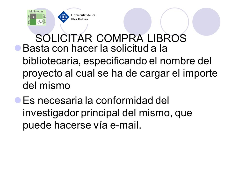 SOLICITAR COMPRA LIBROS